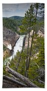 Falls In The Grand Canyon Of Yellowstone Beach Towel