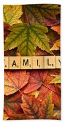 Family-autumn Inpsireme Beach Towel
