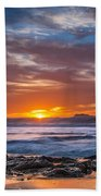 Farewell To Autumn Sun Beach Towel
