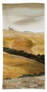 Farm On Hill - Tuscany Beach Towel