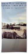 Farmer's Christmas Beach Towel
