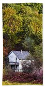 Farmhouse In Fall Beach Towel