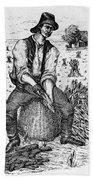 Farming: Corn Husker Beach Towel