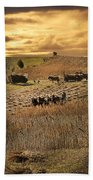 Farming To Beat The Storm Beach Towel