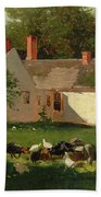 Farmyard Scene Beach Towel