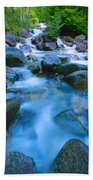 Fast-flowing River Beach Towel