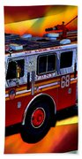 Fdny Engine 68 Beach Towel