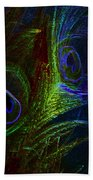 Feathers Of Hope. Blue Touch Beach Towel