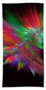 Feathery Bouquet On Black - Abstract Art Beach Towel