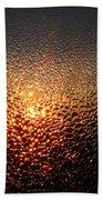 February Morning Dew Drops Beach Towel