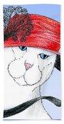 Feline Finery - Claudia Beach Towel