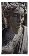 Female Statue Beach Towel