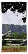 Fence At Appomattox Beach Towel by Teresa Mucha
