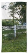 Fence Or Shoes Beach Towel