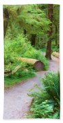 Ferns And Mosses Beach Towel