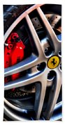 Ferrari Shoes Beach Towel