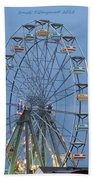 Ferris Wheel At Virginia Beach Beach Towel