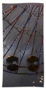 Ferris Wheel Reflection Beach Towel