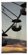 Ferris Wheel Silhouette Beach Towel