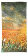 Field Of Gold Beach Towel