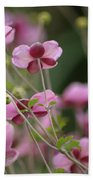 Field Of Japanese Anemones Beach Towel