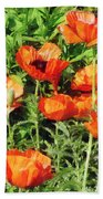 Field Of Red Poppies Beach Towel