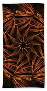 Fiery Pinwheel Beach Towel