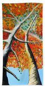 Fiery Trees Beach Towel