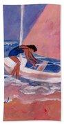 Fighting To Sail Beach Towel