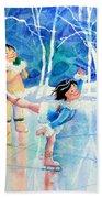 Figure Skater 15 Beach Towel