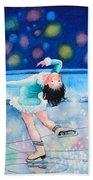 Figure Skater 16 Beach Towel