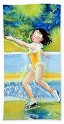 Figure Skater 18 Beach Towel