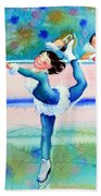 Figure Skater 19 Beach Towel