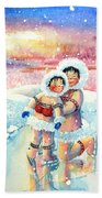 Figure Skater 7 Beach Towel