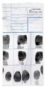 Fingerprint Identification Application Beach Towel
