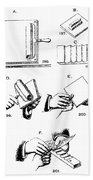 Fingerprinting Instructions, Circa 1900 Beach Towel by Science Source