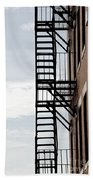 Fire Escape In Boston Beach Towel