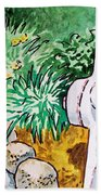 Fire Hydrant Sketchbook Project Down My Street Beach Towel by Irina Sztukowski