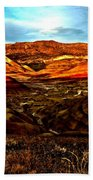 Fire In The Painted Hills Beach Towel