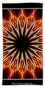 Fire Kaleidoscope Effect Beach Towel