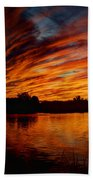 Fire Sky II  Beach Towel