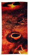 Fire Wall Beach Towel by Empty Wall