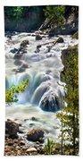 Firehole River Falls Beach Towel