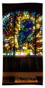 Fireman's Hall Stained Glass Beach Towel