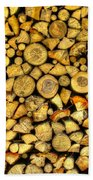 Firewood Beach Towel