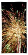 Firework Beach Towel