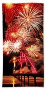 Fireworks Away Beach Towel