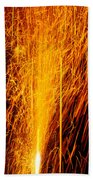 Fireworks Fountain Beach Towel