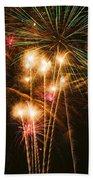 Fireworks In Night Sky Beach Sheet