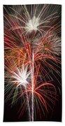 Fireworks Light Up The Night Beach Sheet